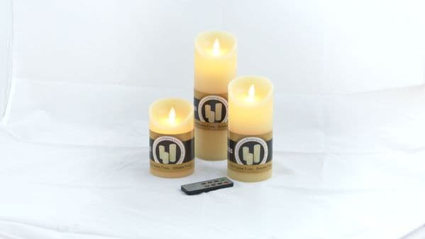 3 Remote Flameless Scented WAX Candles + Free Gift