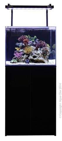 Aqua One MiniReef 120 - Aquarium and Cabinet - Black