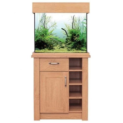 Aqua One OakStyle 110L - Aquarium and Cabinet - Oak