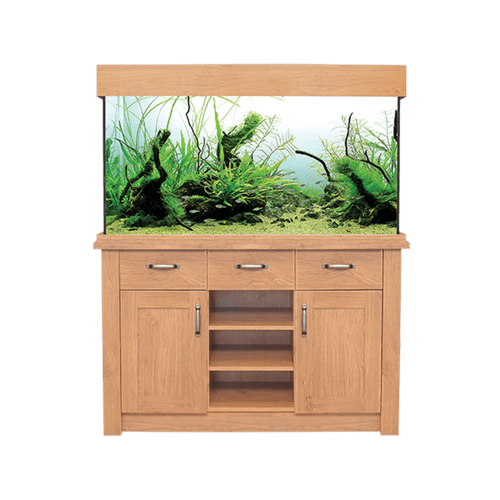 Aqua One OakStyle 230L - Aquarium and Cabinet - Oak