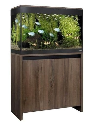 Fluval Roma 125L NEW Bluetooth LED - Aquarium and Cabinet - Walnut