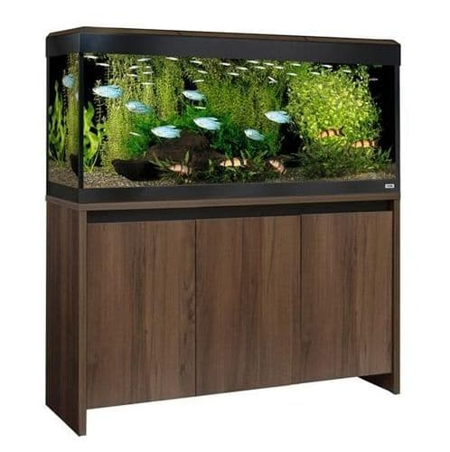 Fluval Roma 240L NEW Bluetooth LED - Aquarium and Cabinet - Walnut