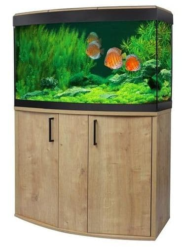 Fluval Vicenza 180L LED - Aquarium and Cabinet - Oak