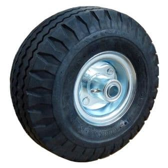 10 Inch Offset Pneumatic Wheel with 3/4 Inch Bearings <br />W-10 OS34X