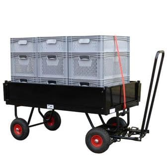 9 Euro-Container Braked Trailer Film Cart