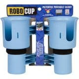RoboCup Clamp-On Dual Cup Holder - Light Blue