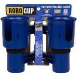 RoboCup Clamp-On Dual Cup Holder - Navy Blue