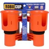 RoboCup Clamp-On Dual Cup Holder - Orange