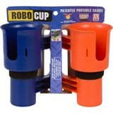 RoboCup Clamp-On Dual Cup Holder - Orange/Navy
