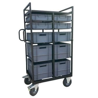 Tall Euro-Container Trolley Film Cart