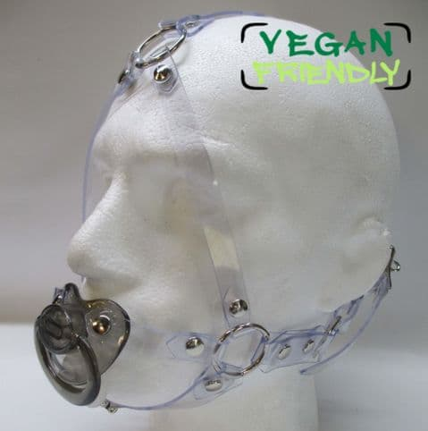 Fully Adjustable Vegan Head Harness Paci Gag (5 ring design)