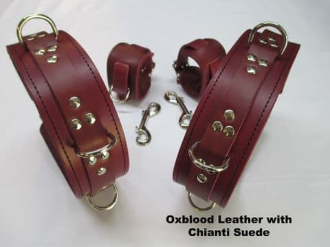 Fully locking Thigh To Wrist Restraint Cuffs (x 4 Cuffs)