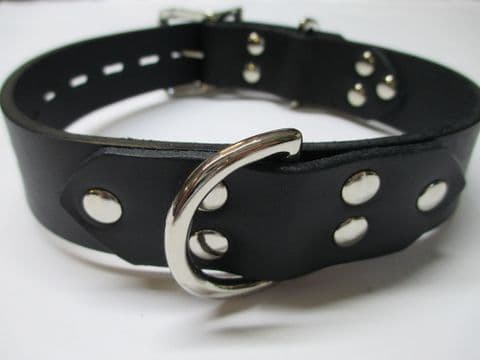 Leather 32mm wide Front and Rear Dee Locking Collar