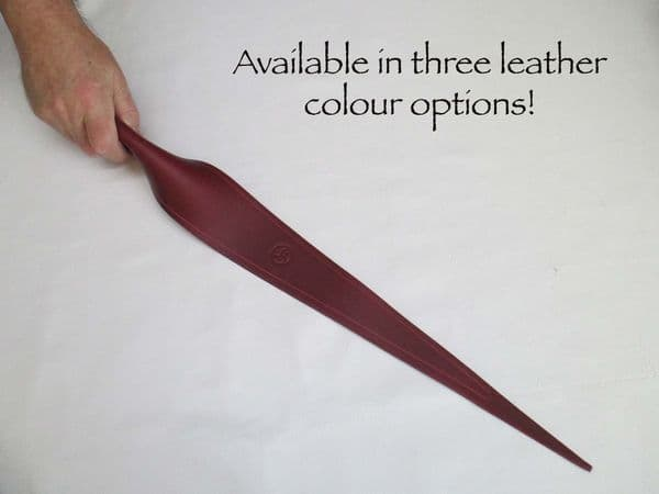 Medium sized Leather Riveted Dragon Tongue Whip