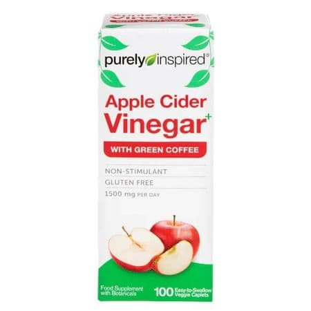 Purely Inspired Apple Cider Vinegar with Green Coffee 1500mg 100 Caplets