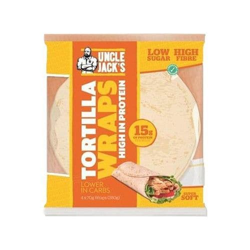 Uncle Jack's High Protein Tortilla Wraps (4x70g)