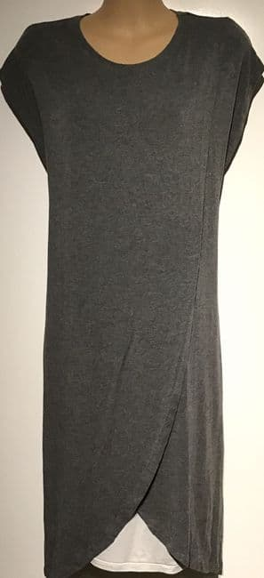 ASOS MATERNITY GREY WRAP NURSING TUNIC DRESS SIZE 14