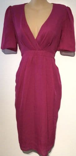 ASOS MATERNITY HOT PINK OCCASION DRESS SIZE 8