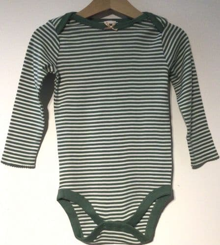 BABY BODEN GREEN NARROW STRIPE BODYSUIT NEW AGES 6-12m to 2-3years