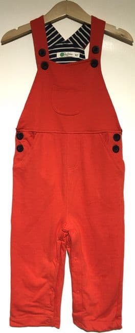 BABY BODEN ORANGE JERSEY DUNGAREES 0-3m to 18-24m (1)