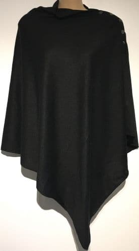 BLACK POPPER SHOULDER PONCHO ONE SIZE