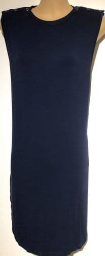 BLOOMING MARVELLOUS NAVY POPPER NURSING VEST TOP SIZE L 18/20