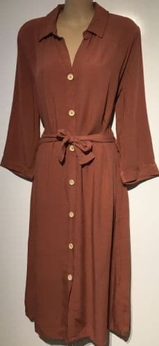 BRICK BELTED BUTTON SHIRT DRESS BNWT SIZES 10-16