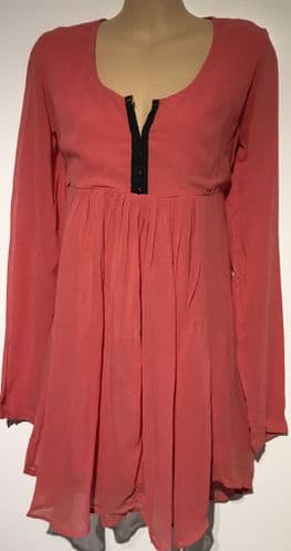 CORAL CHIFFON NURSING FRIENDLY TUNIC TOP NEW SIZES 10-20
