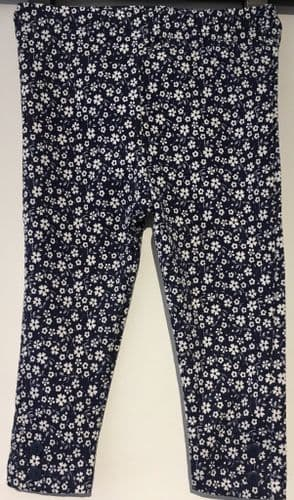 ex JOJO NAVY FLORAL DITSY PRINT GIRLS LEGGINGS 0-3m - 4-5yrs