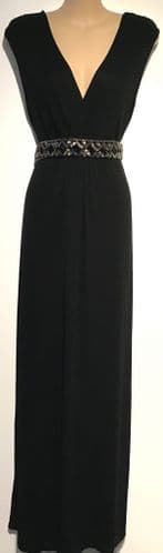 GEORGE MATERNITY & NURSING BLACK MAXI DRESS SIZE UK 16