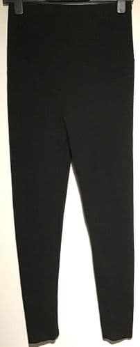 H&M MAMA MATERNITY BLACK OVER BUMP LEGGINGS SIZE S 10