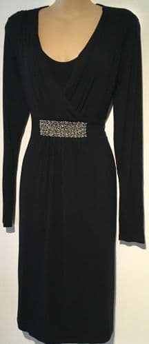 MAMALICIOUS MATERNITY & NURSING BLACK JEWELLED DRESS SIZE S 10