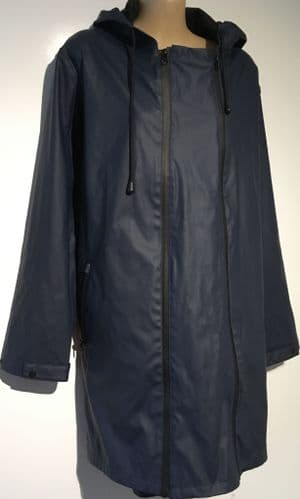 MAMALICIOUS NAVY 2 IN 1 ZIP PANEL MATERNITY RAIN MAC JACKET M 12-14