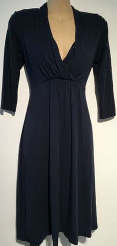 MAMAS & PAPAS NAVY BLUE MATERNITY & NURSING DRESS SIZE 10