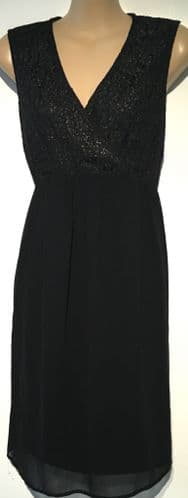 NEW LOOK BLACK LACE TOP MATERNITY DRESS SIZE 10