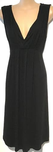 NEW LOOK MATERNITY BLACK CROSS OVER DRESS SIZE 16