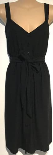 NEXT MATERNITY BLACK BUTTONED NURSING DRESS SIZE 8