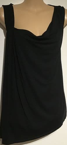 NEXT MATERNITY BLACK NURSING VEST TOP SIZE 12