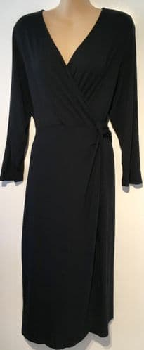 SERAPHINE BLACK MATERNITY/NURSING JERSEY DRESS SIZE UK 16