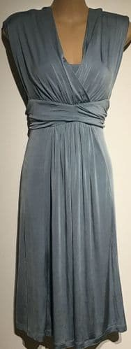 SERAPHINE LUXE DUCK EGG BLUE OCCASION NURSING/MATERNITY DRESS SIZE UK 10