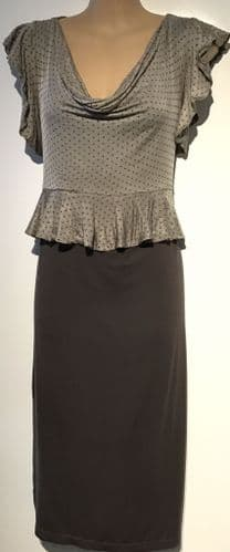 TIFFANY ROSE BROWN OCCASION MATERNITY DRESS SIZE UK 10