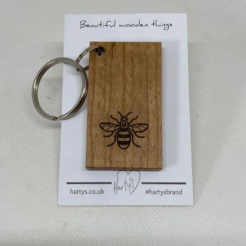 Harty's Solid Wood Bee Keyring