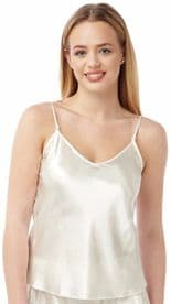 Ladies BHS Satin Reversible Camisole Tops Colour Ivory Sizes 8 & 18