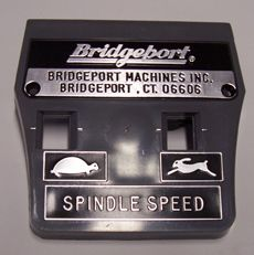 ITEM 15 - 1478-BP Plastic Face Plate w/Bridgeport Logo (BM636/C)