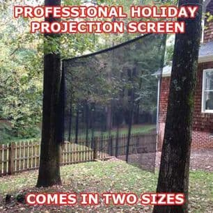 HOLIDAY PROJECTION SCREEN