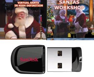 VIRTUAL SANTA AND SANTA'S WORKSHOP ON 8GB FLASH DRIVE