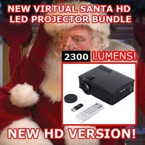 "VIRTUAL SANTA IN ""HIGH DEFINITION"" - (LED PROJECTOR BUNDLE - 5200 LUMENS)"