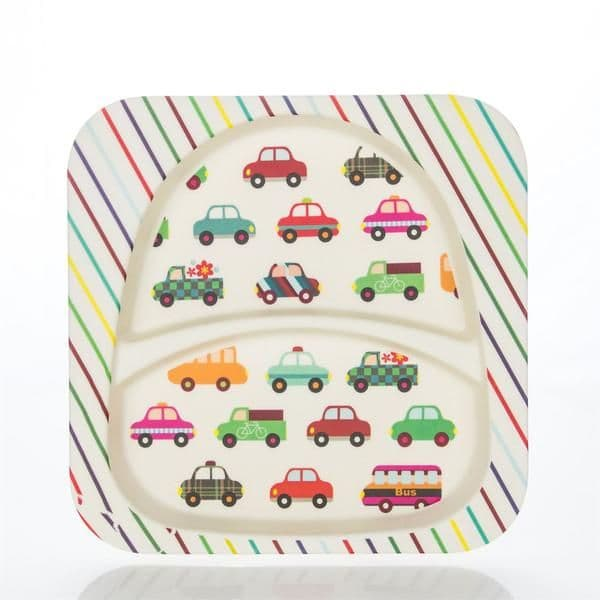 Bamboo Kids Plate - Cars
