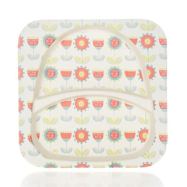 Bamboo Kids Plate - Flowers