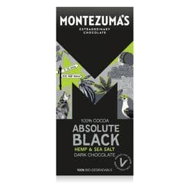 Montezuma*s - Absolute Black - Hemp & Sea Salt 90g